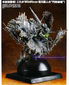 GUNDAM GUY: HG 1/144 MS-06 Zaku II + Big Gun [Gundam Thunderbolt Ver.] Enkei Gekijyo - Diorama Build