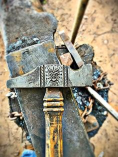 """olsonironworks: """" Every time I take a blacksmith class given by the talented Thomas Latane, I'm intrigued with his wrought iron hammer. """""""