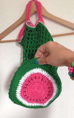 Bees and Appletrees (BLOG): meloentas haakpatroon -melonbag crochetpattern