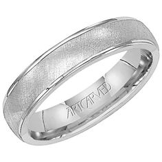 Artcarved Textured Mens Wedding Band