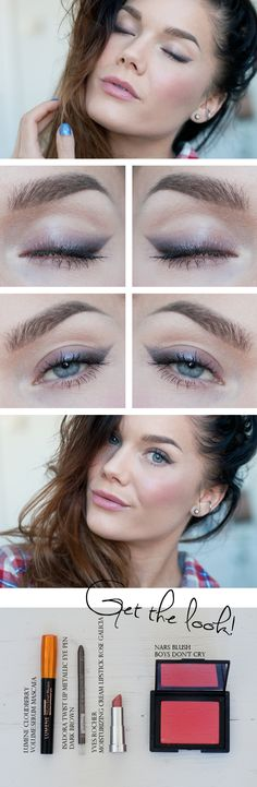 Todays look – Enkelt med kajal - Linda Hallberg Pretty amazing what this girl can do with so little products :)