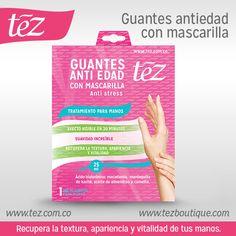 Guantes antiedad con mascarilla Tez http://tez.com.co/portfolio/guantes-antiedad-con-mascarilla-para-manos/