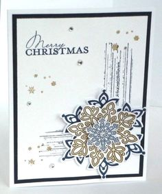 Merry Christmas card making kit of 5 Flurry of Wishes Stampin' Up! #StampinUp