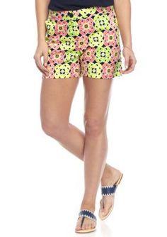 Crown & Ivy™ Women's 5 Inch Multilotus Shorts -  - No Size