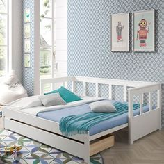 Buy the Pino Day Bed with Pull Out Bed today! Daybed, Sofa Bed, Sofa Cumbed Design, Bed Extension, Kids Bedroom, Bedroom Decor, Pull Out Sofa, Kids Sofa, Floor Seating