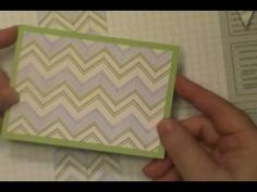 cardmadking technique video: Paper Bargello Techniques ... for striped papers ...