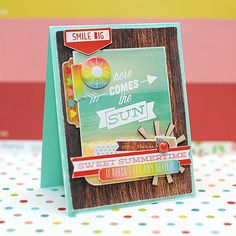 Lea Lawson: Lea's Cupcakes & Sunshine: Here Comes the Sun - 7/3/14  (Scraptastic Kit Club: Simple Stories - Summer)