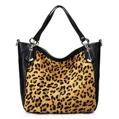 The Highest Quality And Hottest Horse Hair With Cowhide Leopard Black Top China Whole Shoulder Bags From Chinese Handbags Wholer