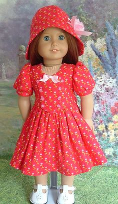Forties Fashion in Red and Pink with by MyGirlClothingCoHeir, $45.00