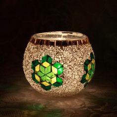 Des photophores en mosaïque de verre pour une touche d'éclairage magnifiquement colorée !