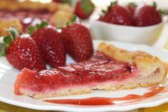 Tarte Rustica de Morangos - Fatia / Rustic Strawberries Pie - Slice