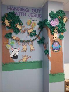 Sunday school bulletin board.