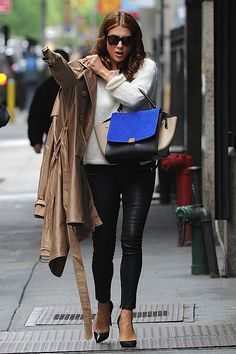 i love love love kate walsh! celine trapeze, waxy pants, trench. ahh!