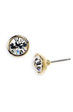 crystal stud earrings / givenchy
