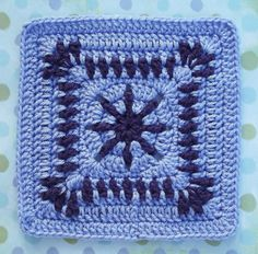 Ravelry: Raindrop Block granny square pattern by Donna Kay Lacey