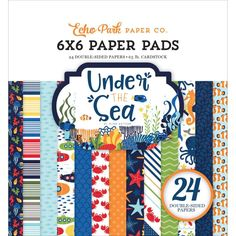 Echo Park 6x6 Paper Pad-Under The Sea