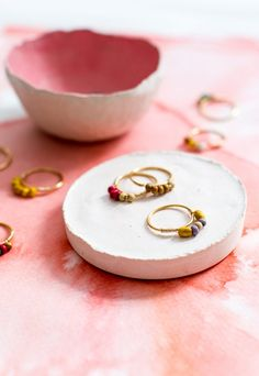 DIY Mini Beaded Rings