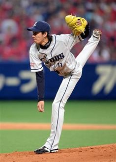 Takayuki Kishi hurls gem, flirts with no-hitter in his complete-game, 2-hit shutout while striking out 9 Dragons en route to his 2nd victory of the season at Nagoya Dome on Saturday, May 25, 2013.