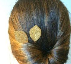 Gold Birch Leaf Hair Pins Leaf Bobby Pins Bridal Hair Pins Gold Hair Accessory Leaf Hair Clips Fall Wedding Bridal Hair Pins Gold Aspen Leaf