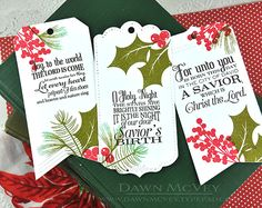 Christmas Bookmarks by Dawn McVey for Papertrey Ink (October 2015)