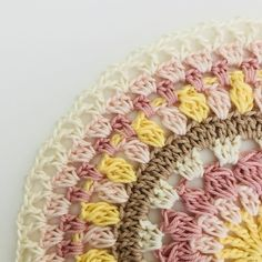 epeat *__* 16 times, join the row with 1 sl st in the Crochet Rug Patterns, Crochet Mandala Pattern, Crochet Circles, Crochet Doilies, Knit Crochet, Easy Crafts, Elsa, Crafty, Wool