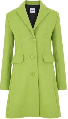 Moschino Cheap And Chic Lime Green Wool Blend Coat – $385