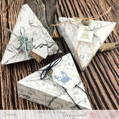 @charliepaulchen #charlieundpaulchen #herzepuenktchen #maritim #geschenkeverpacken Charms, Kit, Wraps, Boxes, Packaging, Gift Wrapping, Vintage, Cockles, Boat Dock