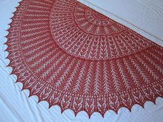 Ravelry: EZ 100th Anniversary Hearts Half-Circle pattern by Mwaa Knit free knit lace shawl