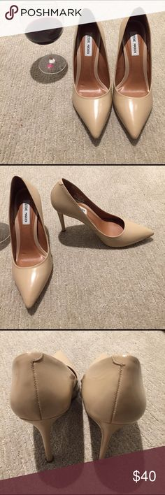Steve Madden PROTOO pointy toe heels | sz. 10 Leather upper, Made in Brazil. Worn once indoors and has little to no wear on the bottom and no scuffing. Steve Madden Shoes Heels