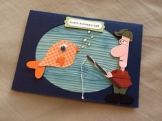 Fathers Day, Fishing, Punch Art, Stampin Up
