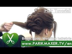 Bridal updo. Wedding hairstyle. Victoria Skimbator ★★★★★ parikmaxer TV USA - YouTube