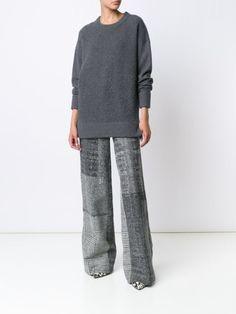 Jason Wu checked wide leg trousers