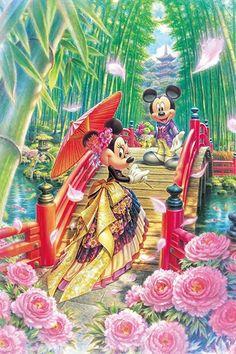 ディズニーのサイズはiPhone(640×960)壁紙、番号は39656でミニーの和モダンウエディングの画像です。