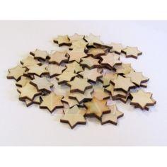 Dřevěné hvězdičky 2 cm - 10 ks Cookie Cutters