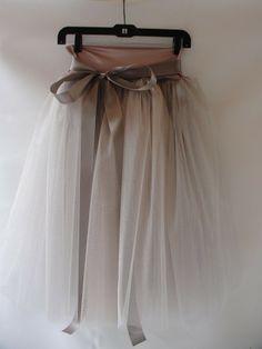 Dusty Rose Tulle Skirt
