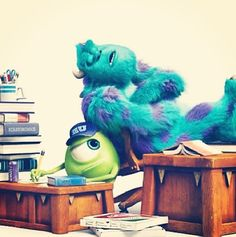 Disney 30 Day Challenge Day 20: favorite friends. I love Mike and Sully's relationship, and how they didn't start out as friends.