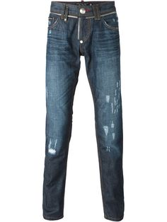 PHILIPP PLEIN 'Zipper' Jeans. #philippplein #cloth #jeans