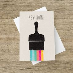 'New Home' Card Housewarming Card, Housewarming Decorations, New Home Cards, New Home Gifts, New House Announcement, Card Companies, House Cards, Printable Cards, Bird Cards