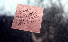 Save your heart....