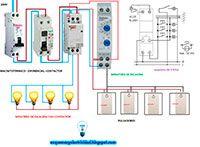 Esquemas eléctricos: Minutero de escalera con contactor para 4 hilos