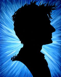 Doctor Who Silhouette Painting - Tenth Doctor
