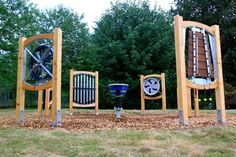 Acoustic Arts: Outdoor musical instruments for special needs school 2 of 3 Playground Games, Playground Design, Outdoor Playground, Outdoor School, Outdoor Classroom, Toddler Play Area, Music Garden, Sensory Garden, Outdoor Signage