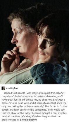 Brenda Blethyn on playing Mrs. Bennet in Joe Wright's 2005 version of Pride and Prejudice. Pride And Prejudice Quotes, Pride And Prejudice 2005, Book Tv, Book Nerd, Lord Voldemort, Dirty Dancing, Tony Blair, Margaret Thatcher, Keira Christina Knightley