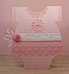 Lil Inker, Baby, girl, Stitched Scallop Border Die,  Gift Bow Topper die, Sunshine die, small, onesie card