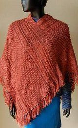 Irish Cabled Poncho