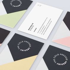 Business cards by Build in Amsterdam. Cold Pressed Juicery.
