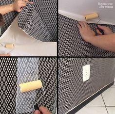 O site Homens da Casa ensina a aplicar tecido na parede, deixando o ambiente com uma nova aparência.