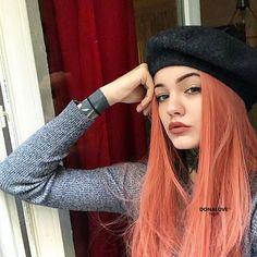 Garnele-farbe glatt synthetische Perücke SNY084 #donalovehair #donalove #garnelefarbe #hair #haarfarbe #haircolor #wig #Perücke #frisur #glatthaar #fashion