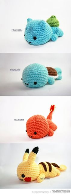the many ideas from crocheting  - pokemon!
