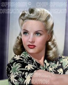 BETTY GRABLE IN ALOHA BLOUSE 8X10 BEAUTIFUL COLOR PHOTO BY CHIP SPRINGER. Please visit my Ebay Store at http://stores.ebay.com/x5dr/ to see the current listings of your favorite Stars now in glorious color! Message me if you would like me to relist your favorites. Check out my New Youtube videos at https://www.youtube.com/channel/UCyX926rA5x4seARq5WC8_0w